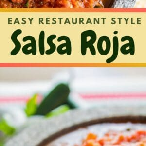 Better than restaurant quality roasted salsa roja is easy to make at home!