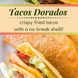 These easy to make taco dorados are the perfect crispy, chewy tacos that you're family won't stop asking for!!