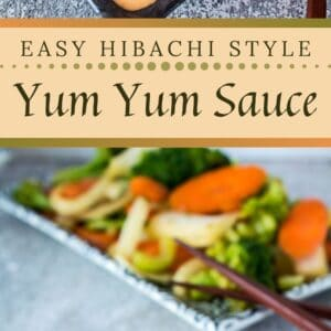 This Japanese steakhouse sauce has many names, but Yum Yum Sauce describes it best!!