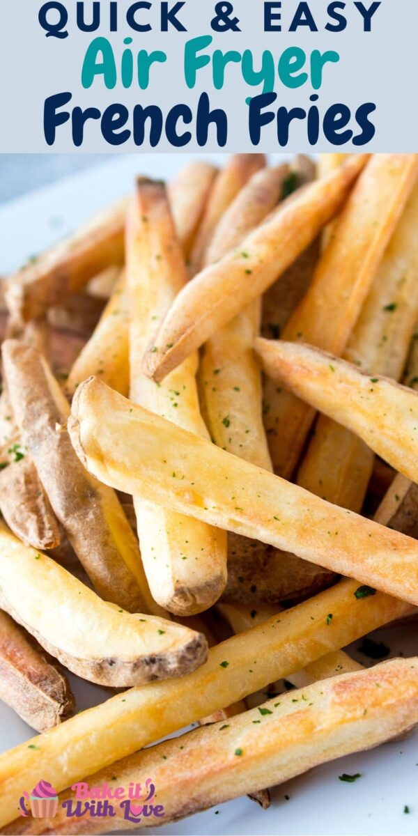 Easy Air Fryer French Fries are a great healthy snack and can be completely homemade or fried up using frozen french fries!