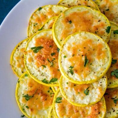 Calabaza amarilla con parmesano al horno