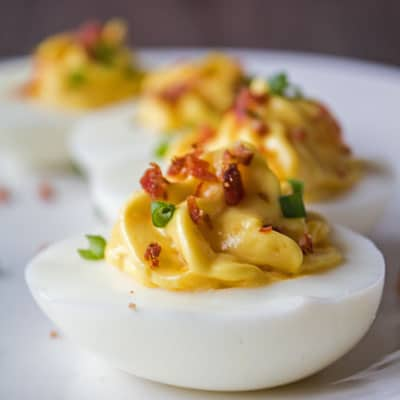 These easy to make deviled eggs are just like Grandma made them and still the best ever recipe!