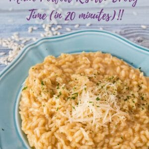 Perfectly creamy Parmesan Risotto is not as daunting as reality television makes it look! It's a super treat and easier than you might think!!