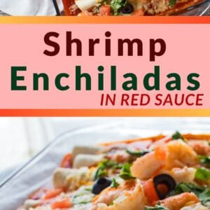 These shrimp enchiladas are the best ever combination of delicious shrimp and Mexican flavors!