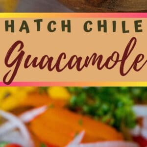 This super easy to make hatch chile guacamole takes wonderful flavor to another level!