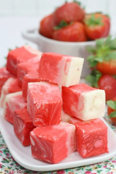 strawberry swirl fudge from Whiskey N Sunshine