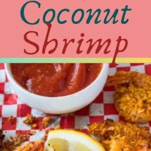 Air Fryer Coconut Shrimp is a super easy way to make deliciously crispy coconut shrimp in just minutes!