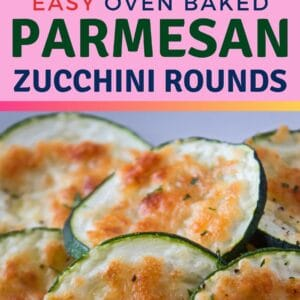These super easy oven baked parmesan zucchini rounds are a delicious and healthy snack or side to enjoy at any time!