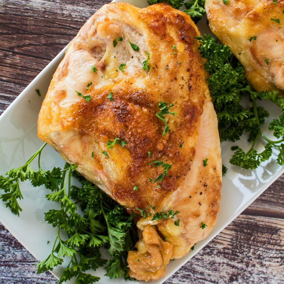 Oven Roasted Bone In Chicken Breast Easy Baked Split Chicken Bake It With Love