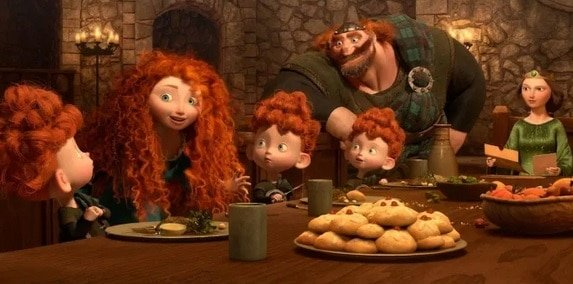فيلم الرسوم المتحركة Disney Pixars Brave يتميز بسكويت Empire Biscuits الرائع