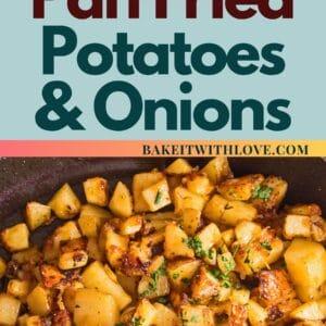 sematkan dengan foto atas di atas ubi kentang goreng dan bawang dan gambar bawah pada kuali.