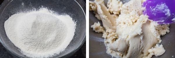 2 image sifted flour is added gradually until shortbread dough comes together