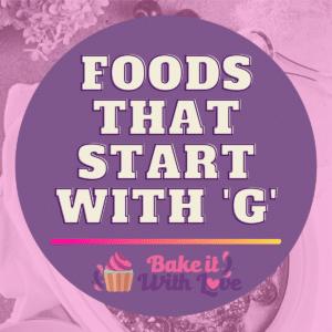Fødevarer, der starter med G