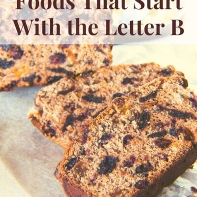pin image for list challenge foods that start with B.