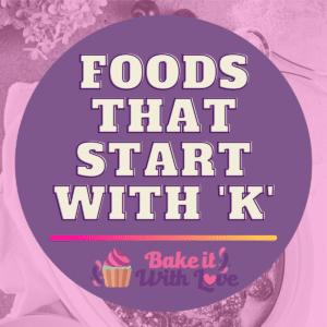 Fødevarer, der starter med K