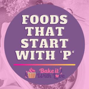 Fødevarer, der starter med P