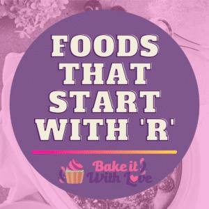 Fødevarer, der starter med R