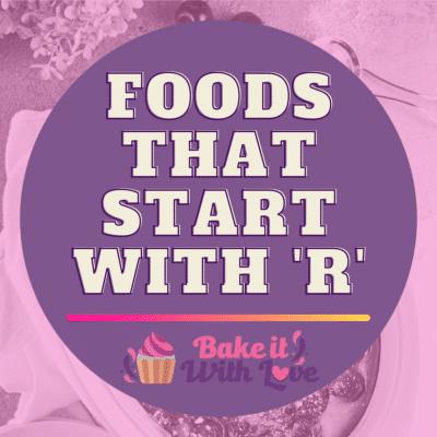 Lebensmittel, die mit R beginnen