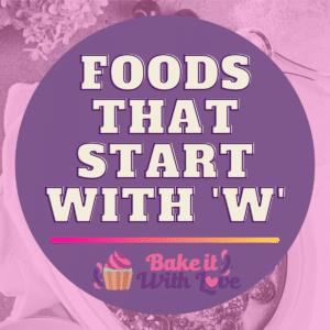 Fødevarer, der starter med W