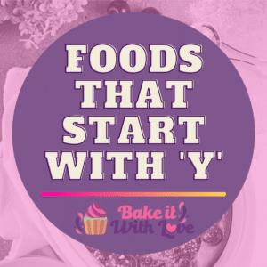 Fødevarer, der starter med Y