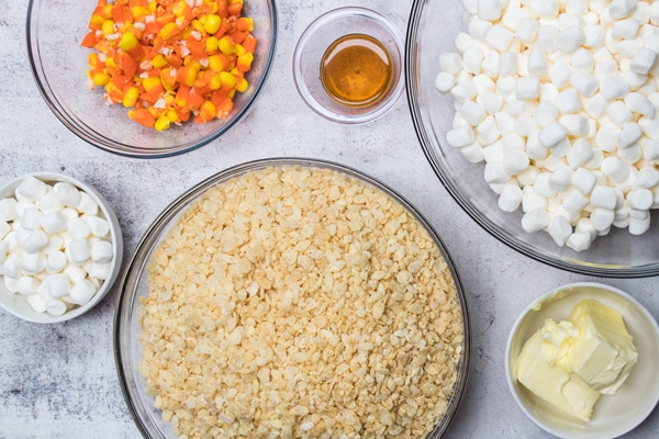 candy corn rice krispie treats ingredients.