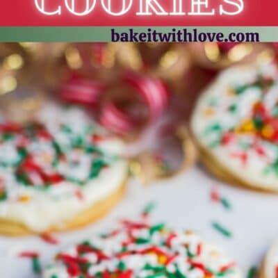 alfiler alto con dos imágenes de las galletas navideñas y el separador de texto.