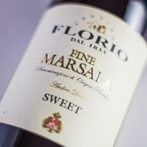 large square Marsala Wine Substitute image showing bottle label.