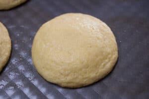 apariencia de galleta cuando esté lista y lista para sacar del horno.
