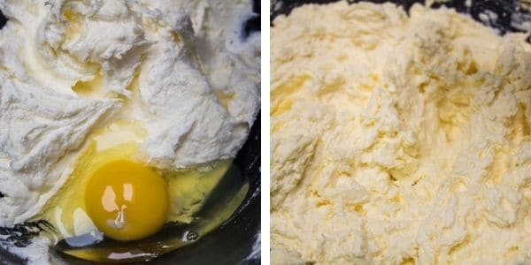 step 2 add eggs into the creamed butter and sugar.