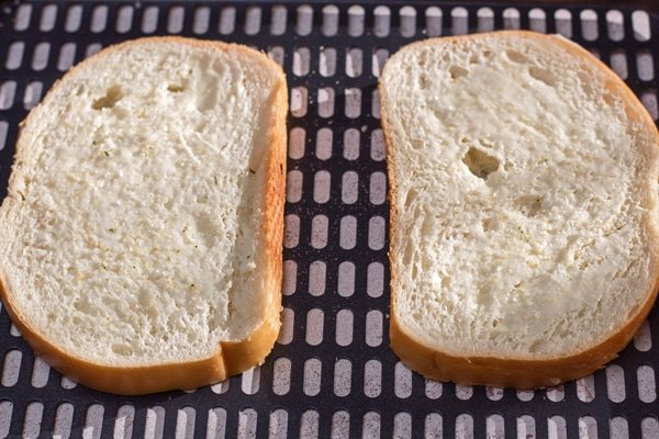 Luftfritteuse Gegrillter Schinken und Käse Schritt 1