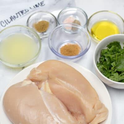 Adobo de pollo con cilantro y lima