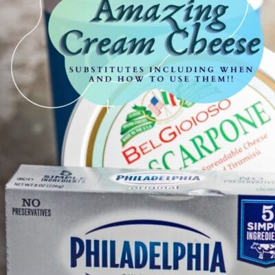 queso crema y sustituye la imagen del pin con superposición de texto.