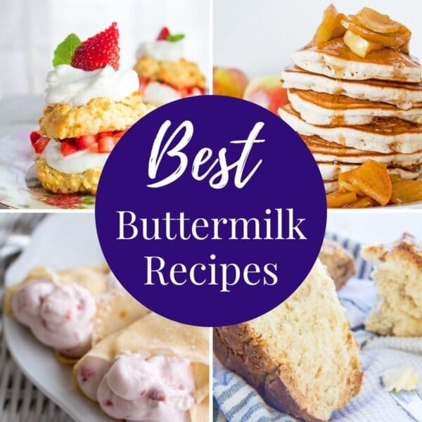 buttermilk recipes collage photo with text overlay.
