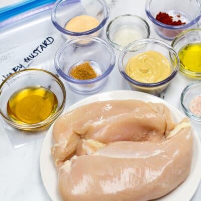 Adobo de pollo con miel y mostaza