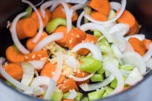 vegetabilsk base til benihana løg suppe bouillon.