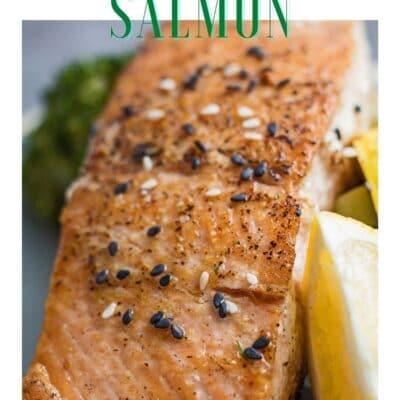 Pin con salmón Hibachi y cabezal.
