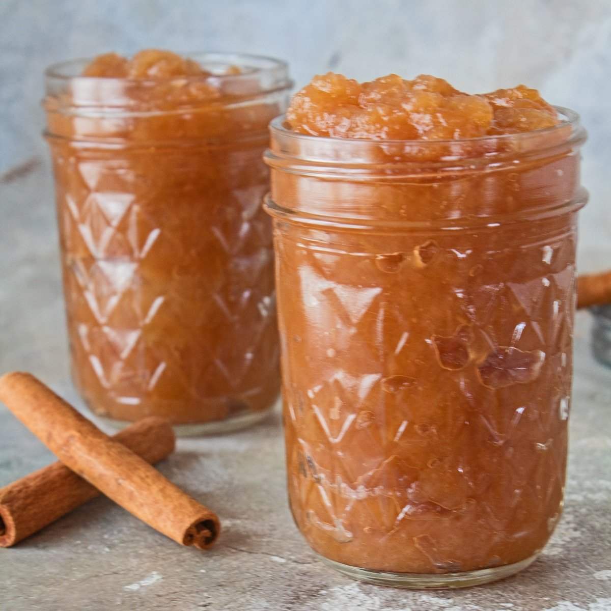 Canned crockpot applesauce for easy storing.