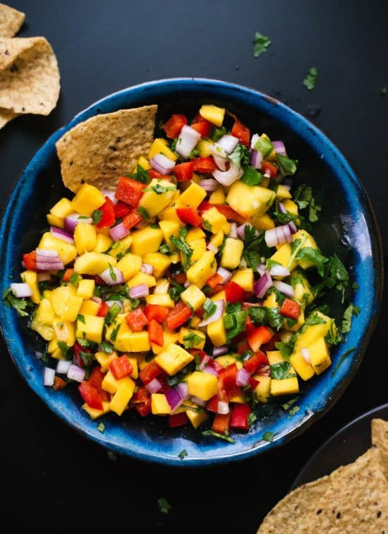 Mango-pico-de-gallo-salso from Cookie and Kate.