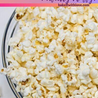 Friterings popcornnål med textrubrik.
