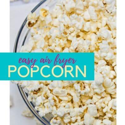 Fryer popcornnål med textöverdrag.