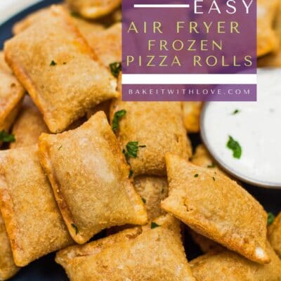 Plated frozen pizza rolls air fried to perfection.