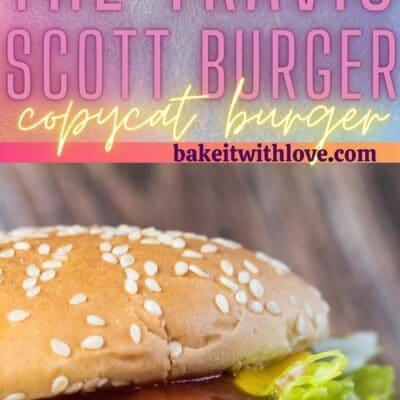 Travis Scott burgerinin 2 resmini içeren uzun iğne.