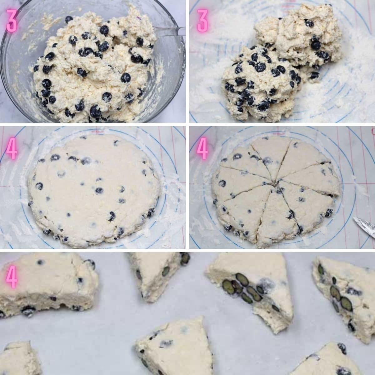 Urutan proses scones cream keju biru 2.