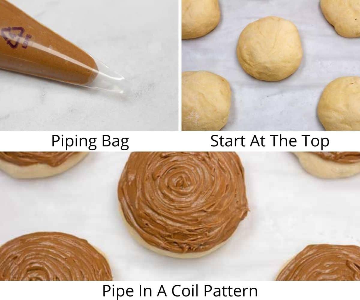 Coffee buns process step 4.
