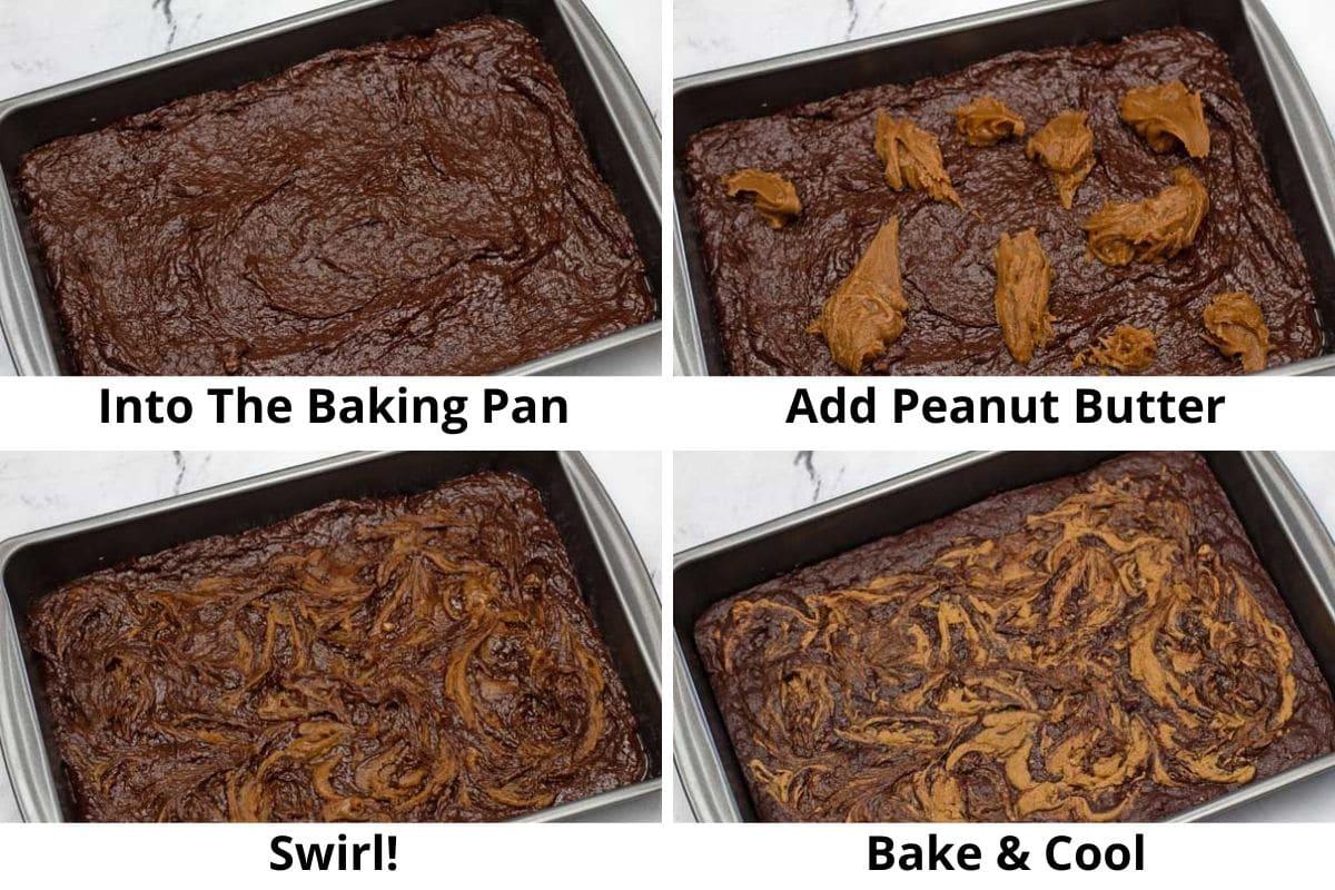 pb banan brownies process shot2