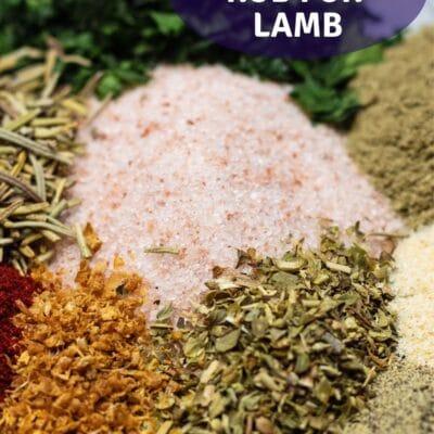 Lamb rub pin with text overlay.