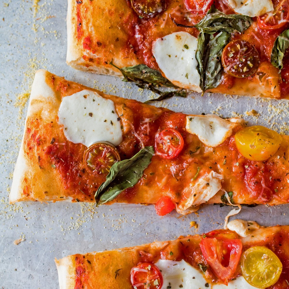How to reheat pizza in the oven, the right way so it's wonderful.