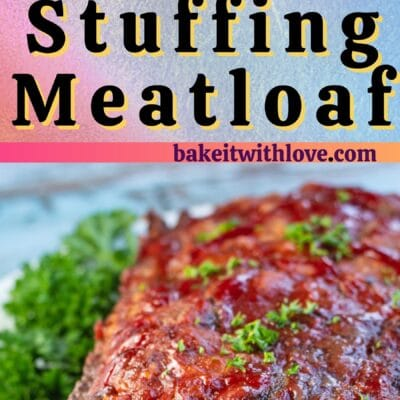 Stove Top Meatloaf pin with 2 images and text divider.