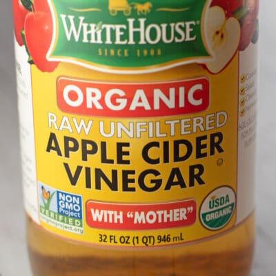 Apple cider vinegar substitute image showing bottled acv.