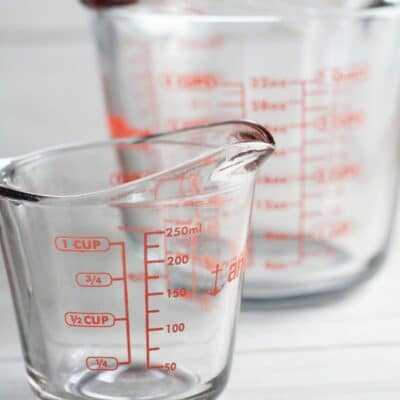 How to convert cups to quarts pin with text header.